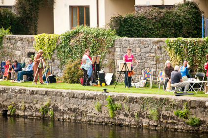 Painting on the banks of the river at Leighlinbridge, Co. Carlow
