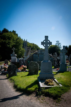 The graveyard at St. Mullins, Co. Carlow.